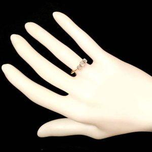 Art Deco 18ct, 18k, 750 Gold 0.60ct Diamond three Stone Engagement Ring  C1925