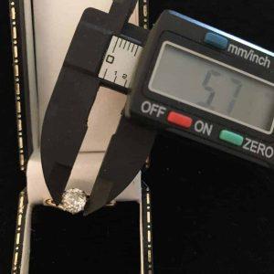 Art Deco 18ct, 18k 750 Gold old European cut Diamond solitaire 0.50ct ring C1915