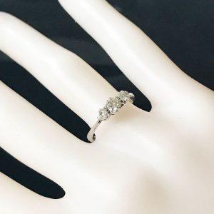 Art Deco, Platinum, PT950 Diamond 3 stone engagement ring 0.50ct, C1920
