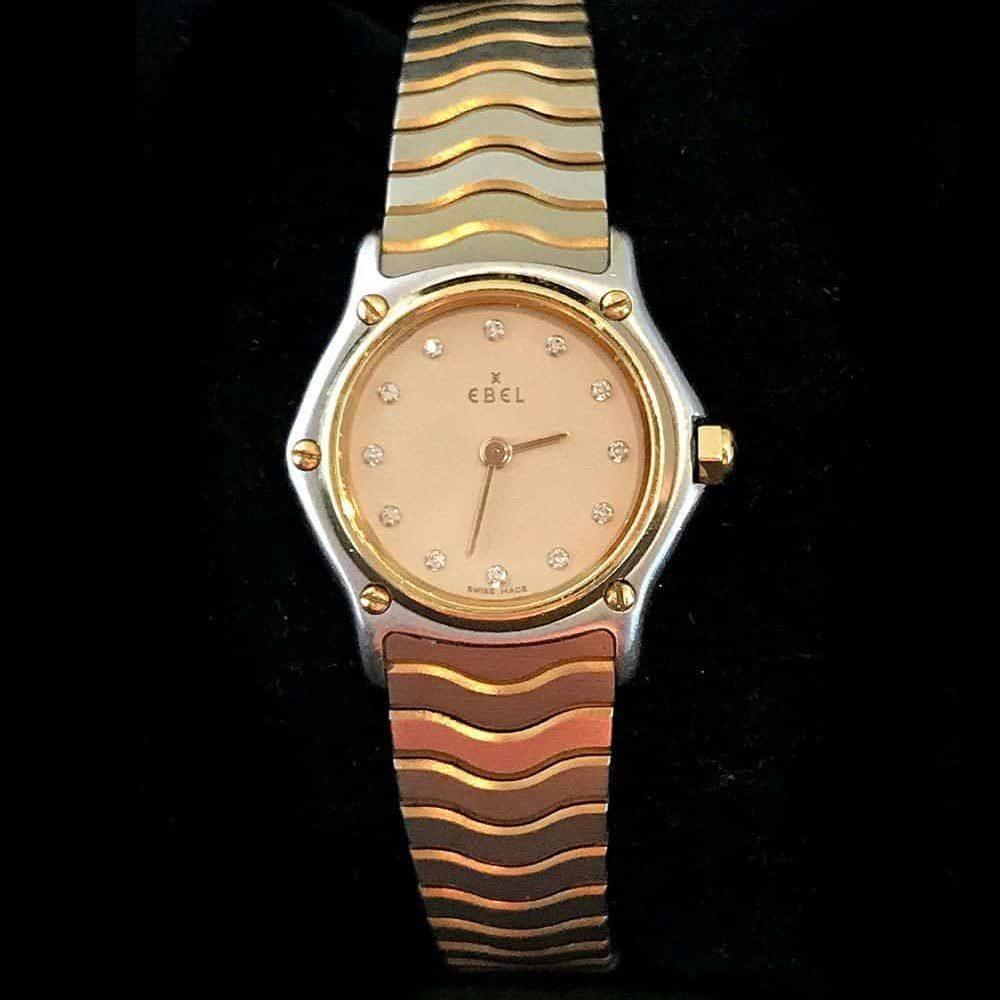 EBEL Ladies Sports Wave Watch, 18k, 18ct Yellow Gold/Steel with MOP & Diamonds