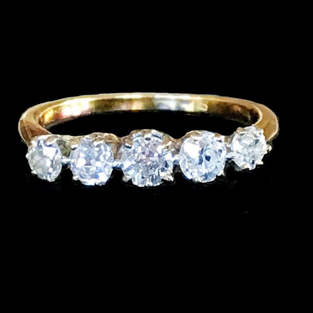Edwardian, 18ct, 18k, 750 gold old cut Diamond 0.67ct engagement ring, C1910