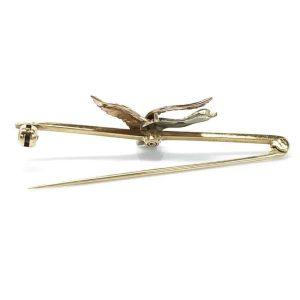 Edwardian 9ct Enamel Mallard, Duck brooch, pin