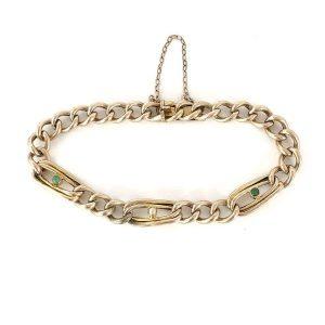 Edwardian 9ct Turquoise & Pearl bracelet, Circa 1900