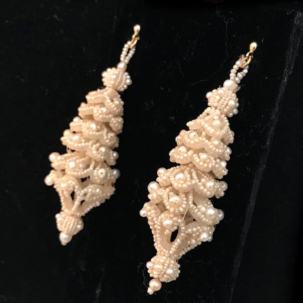 Gorgeous Georgian Natural pearl tiered large drop, chandelier earrings c1810