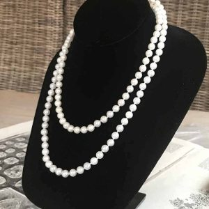 """Stunning, Cultured Akoya Saltwater 7mm pearl necklace, length 36"""" / 92cm"""