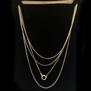 "Superb, Edwardian 15ct, 15k, 625 Rose Gold guard, muff chain, length 60"" -152 cm"