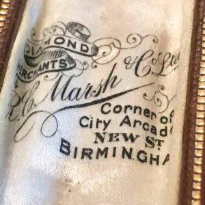 Victorian 15ct, 15k, 625 Gold Fox head lapel, stock, cravat tie stickpin in box