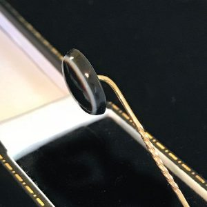 Victorian 9ct, 9k, 375 Gold bulls eye, banded agate stick, tie, cravat pin C1880