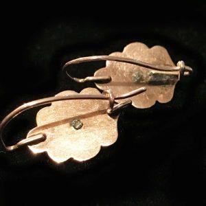 Victorian 9ct, 9k, 375 Rose Gold cabachon Garnet panel earrings, Circa 1860