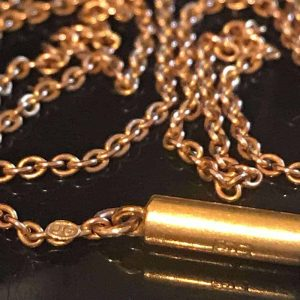 Victorian 9ct, 9k, 375 Rose Gold trace link chain with barrel clasp,  Circa 1895