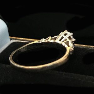 Vintage 18ct, 18k, 750 white Gold Diamond solitaire engagement ring