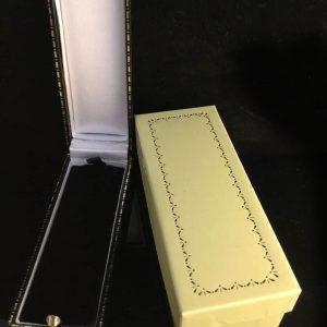 Vintage 9ct, 9k, 375 Gold Pearl cravat, stick, tie, lapel, cravat pin, Date 1961