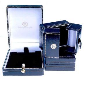 Vintage 9ct, 9k, 375 Turquoise domed stud earrings, 11x11mm