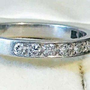 Stunning, Platinum, PT950 Diamond 0.33ct half eternity, anniversary wedding ring