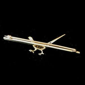 Fine, Edwardian 15ct Gold & Platinum, Diamond and Enamel Pheasant, bird brooch