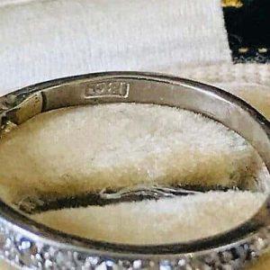 Antique, Art Deco 18ct, 18k Gold Diamond 0.45ct half eternity, anniversary ring