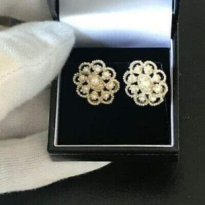 Rare, Georgian, Natural pearl cluster on mother of pearl backs with 9ct fittings