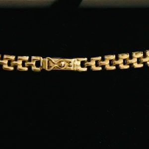"""Vintage 9ct, 9k, 375 gold fringe, graduated necklace, choker, length 17"""" / 43 cm"""
