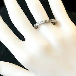 Antique, platinum Diamond 0.35ct full eternity Ring. SIZE UK - Q 1/2 USA - 8.5