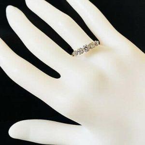 Antique Edwardian 18ct, 18k, 750 Gold & Platinum Diamond 0.70ct Five Stone Ring