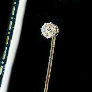 Fine, Edwardian 9ct Gold Diamond 0.25ct stick, tie, cravat, stock pin Circa 1910