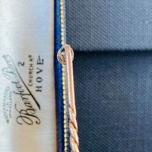 Fine, Edwardian 15ct, 15k, 625 Gold Diamond 0.15ct stick pin, in original box