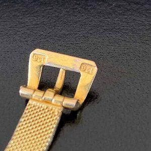 "Vintage 9ct, 9k, 375 Gold Mesh, Jarretiere, belt bracelet with buckle clasp, 7"""