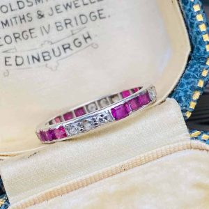 ruby and diamond full eternity ring