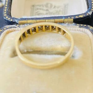 Vintage 18ct, 18k, 750 gold, Diamond 0.27ct eternity, anniversary, stacking ring