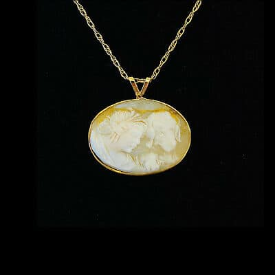 """9ct Gold prince of wales 18"""" chain for Cameo brooch (pendant conversion)"""