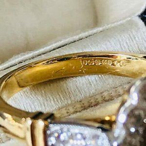 Stunning 18ct, 18k, 750 Gold Emerald & Diamond (1.92ct) Cluster engagement Ring