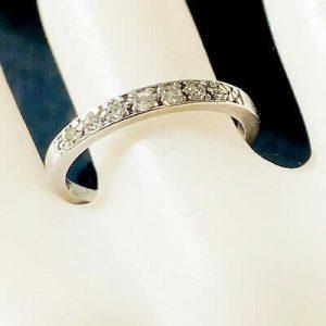 RESERVED-Antique, platinum Diamond 0.20ct half eternity, anniversary, wedding Ring, C1920