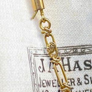 "Exquisite, Edwardian 15ct, 15k, 625 Gold fancy link chain, length 16.5"" / 42cm,"