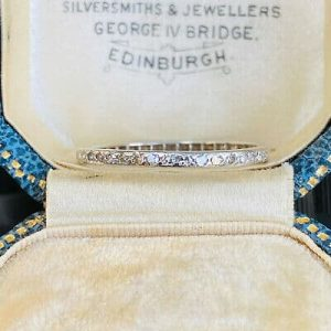 Antique, platinum Diamond 0.40 to 0.35ct full eternity Ring. UK - S 1/2: USA 9.5