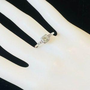 Art Deco Platinum old-cut Diamond 0.40ct solitaire engagement ring, Circa 1920