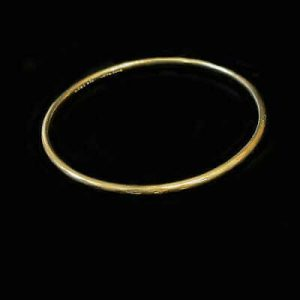 Antique, 9ct, 9k, 375 Gold bangle with metal core by Maker Henry Griffith & Sons