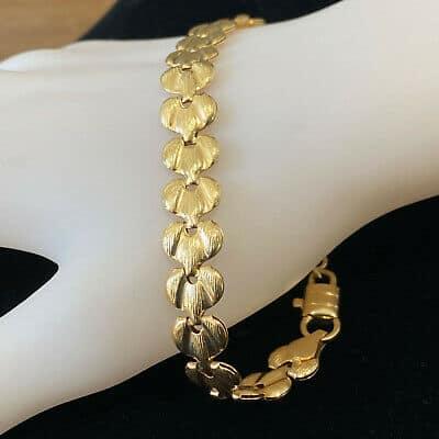 Modernist, 18ct, 18k, 750 Gold fancy link bracelet