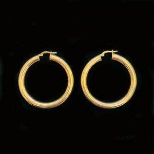 Fabulous, 9ct, 9k, 375 Gold, very Large hoop Earrings, Width: 39.5mm