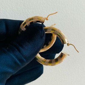 Fabulous, 9ct, 9k, 375 Gold, very Large hoop Earrings, Width: 37mm