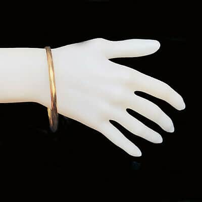 Vintage, 9ct, 9k, 375 Gold bangle with metal core by Maker Smith & Pepper
