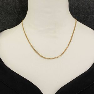 """Lovely, Vintage 9ct, 9k, 375 Gold Bismark link chain, length 18.5"""" / 47cm, 4.9 g"""