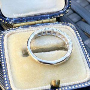 Art Deco 18ct/18k, 750 gold, Diamond half eternity, anniversary, wedding ring