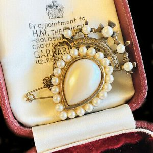 Scottish silver & pearl luckenbooth 'Victorian style' brooch