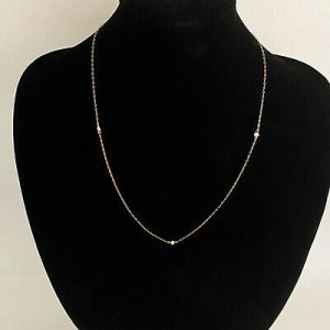 """Delicate Edwardian 9ct rose gold & natural Seed Pearl chain Length: 19"""" / 48.5cm"""