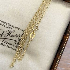 """Fine, 9ct, 9k, 375 Gold rolo link chain, length 16"""" / 40cm, weight 1.2 grams"""