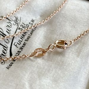 Fine 9ct/9k, 375 ROSE Gold rolo link chain suitable for light pendants & charms