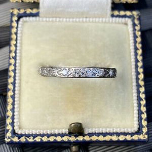 Art Deco 18ct/18k, 750 White Gold Diamond full eternity,anniversary,wedding ring