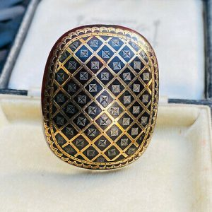 Superb, Victorian Gold & Silver inlaid faux Tortoise shell, Pique, brooch, pin