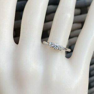 Vintage Platinum PT950 Diamond (0.23ct) 3 stone engagement ring, Circa 1990