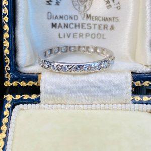 Stunning Platinum Full diamond 0.46ct Eternity, anniversary, wedding ring
